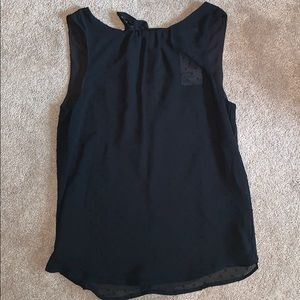 Black sheer tank top blouse